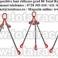 Dispozitive de ridicare din lant cu 3 brate cu carlige de turnatorie